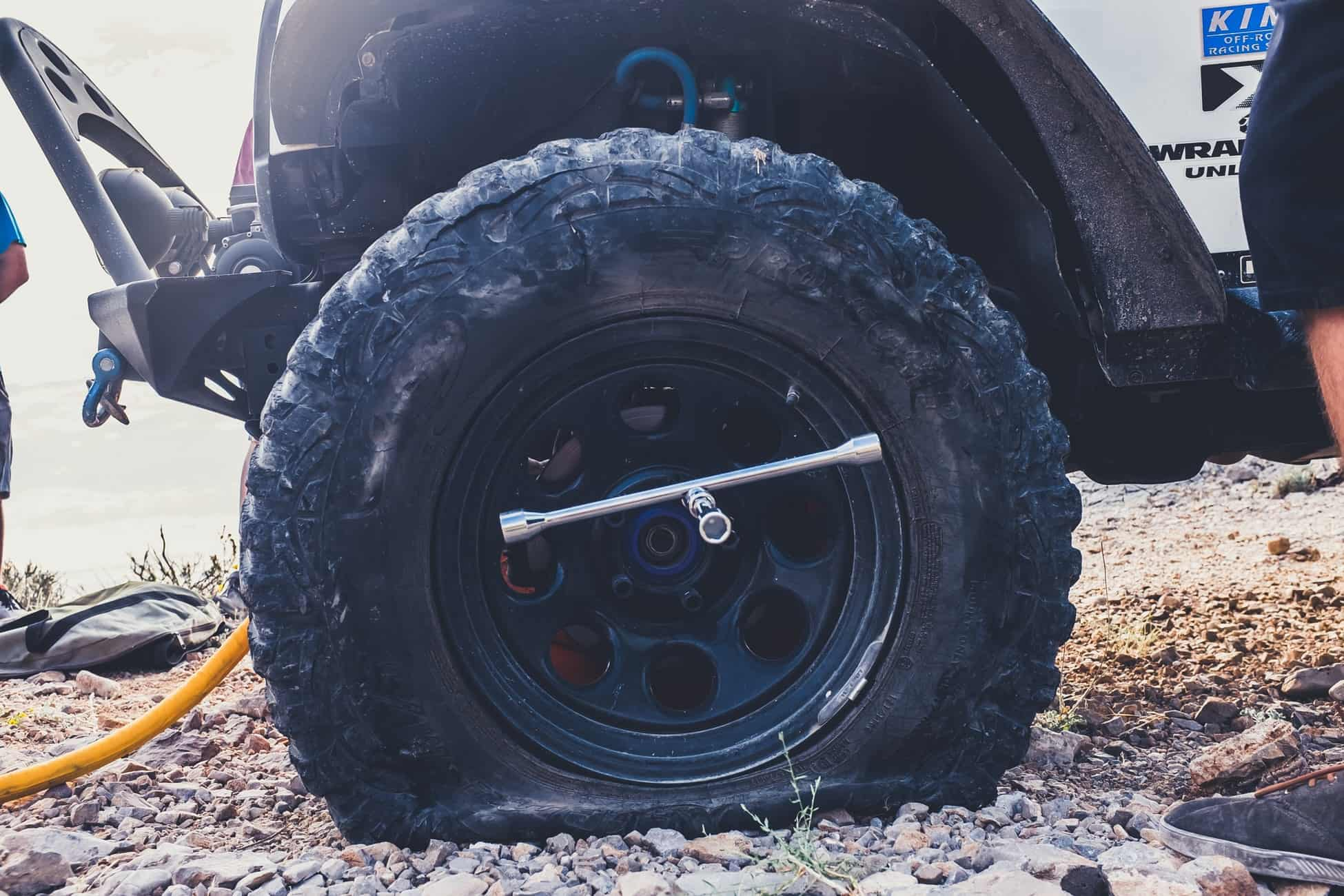 if you have a tire blowout