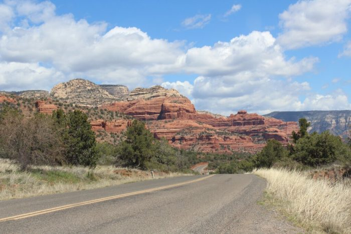 road and cliffs in buckeye az